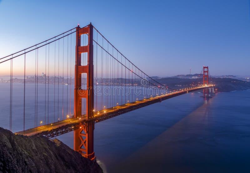 San Francisco Bay Daybreak - golden gate bridge fotografia stock libera da diritti