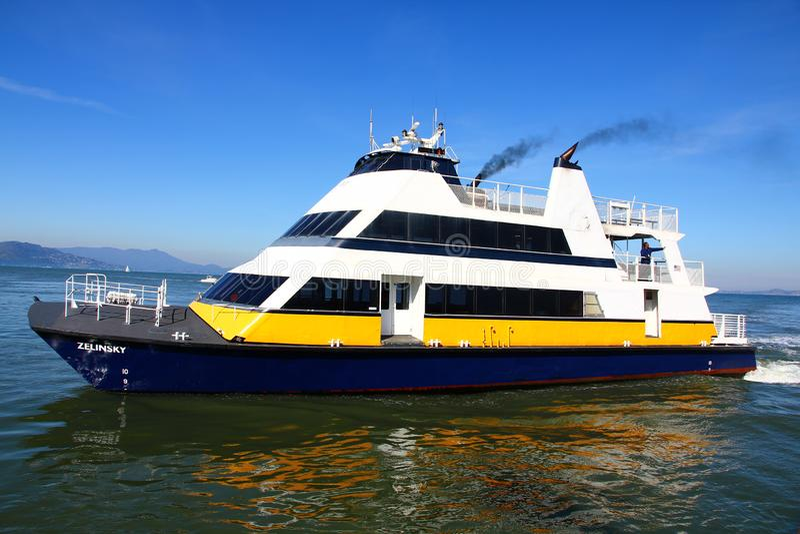 San Francisco Bay Ferry fotografering för bildbyråer