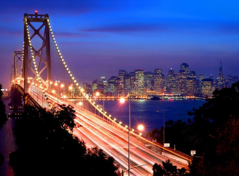 San Francisco bij nacht stock foto