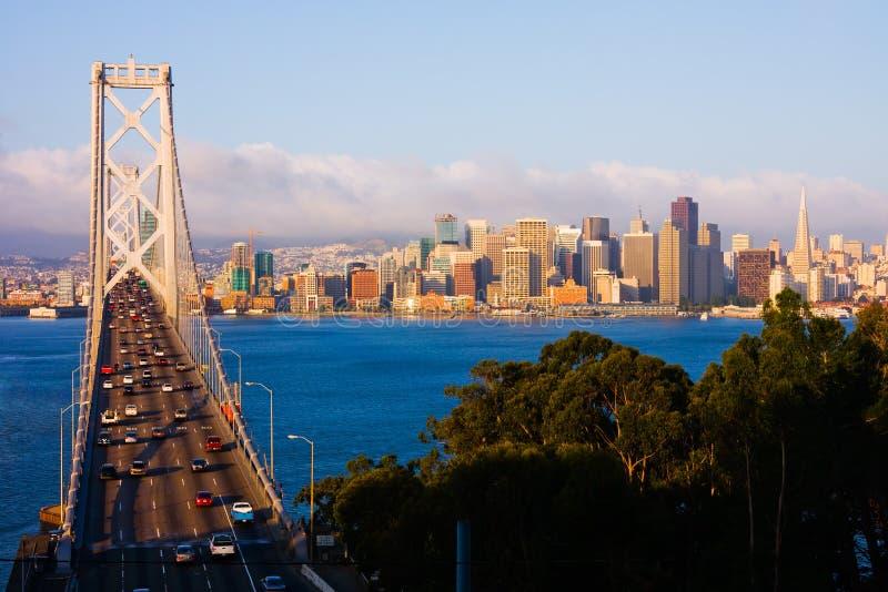 San Francisco bij zonsopgang stock foto