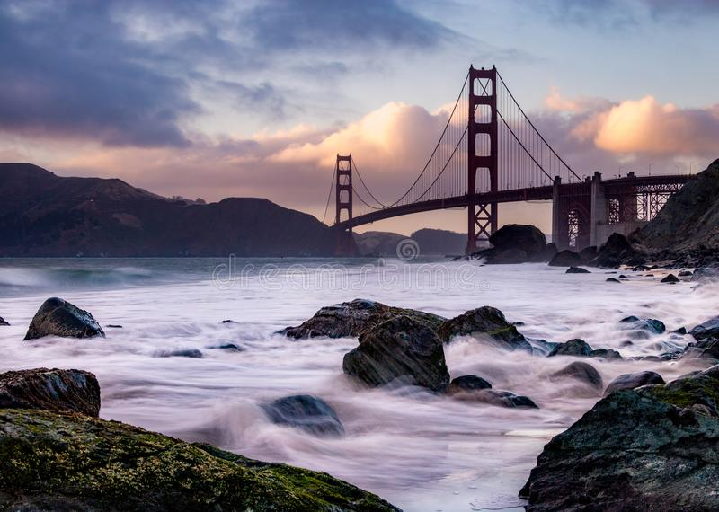 San Francisco Bridge, California fotografie stock