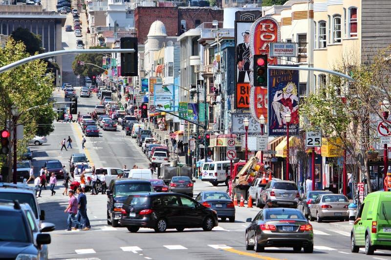 San Francisco Broadway foto de stock