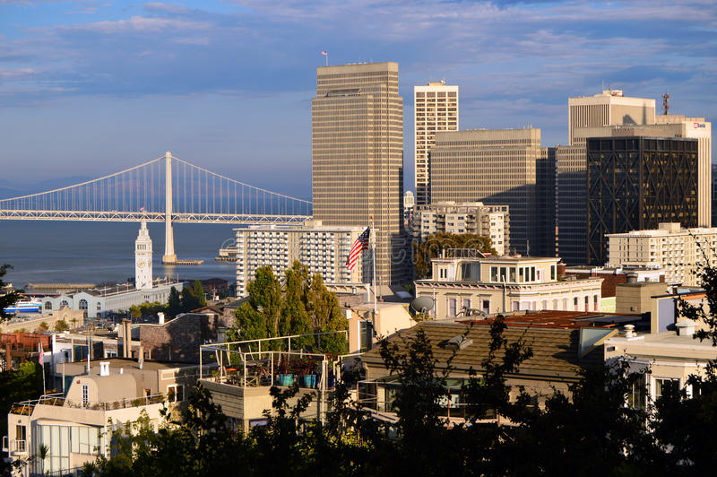 San Francisco Business District stock image