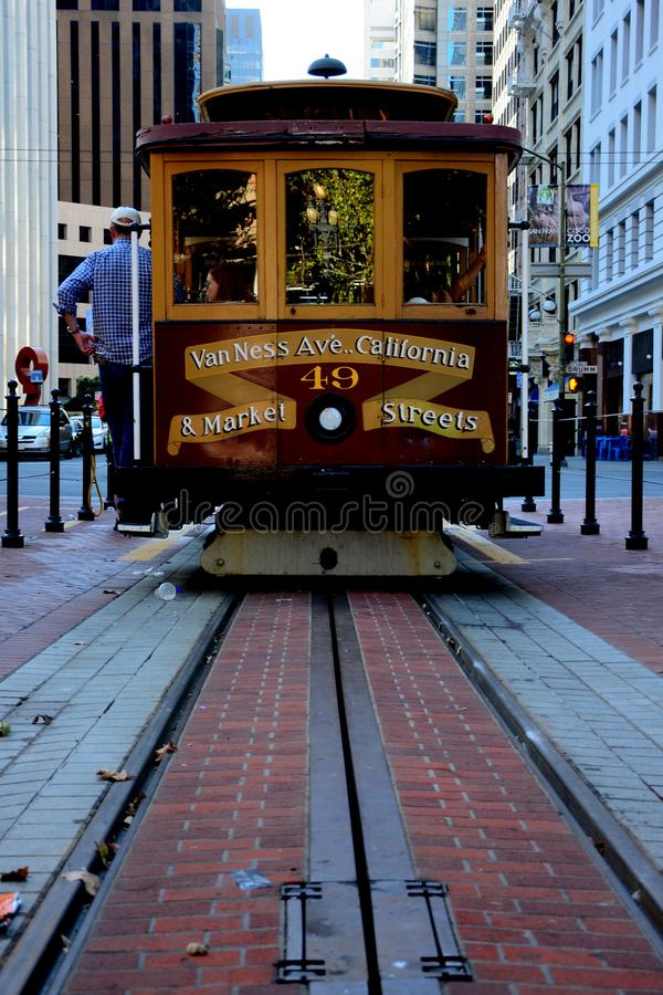 San, Francisco, câble, voiture, la Californie, Etats-Unis, tram, rue, transport, voyage, ville, transport, Amérique, public, urba image stock
