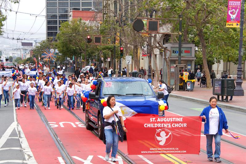 26th annual Pistahan Parade in Downtown San Francisco stock photo