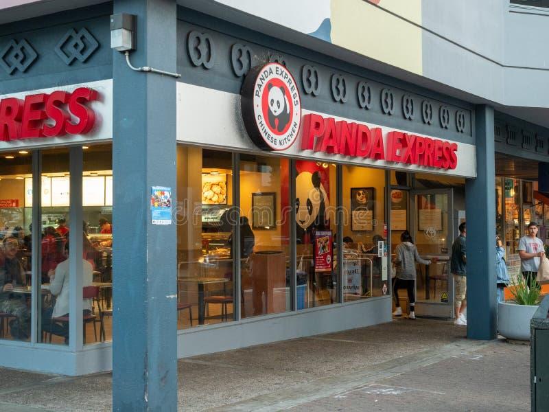Panda Express Asian fast food location on street corner royalty free stock image