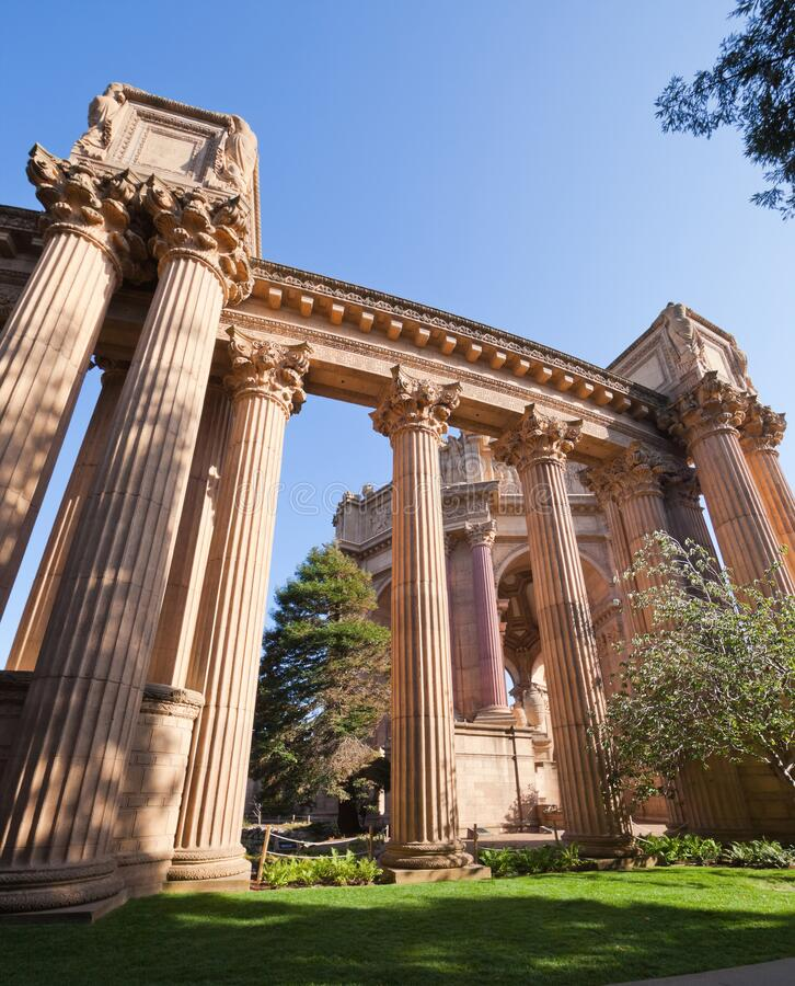 SAN FRANCISCO CA USA - Oct 19, 2011 : The Palace Of Fine Arts - Ancient building of San Francisco, California, United states , USA royalty free stock images