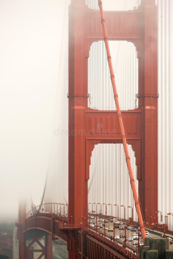 The Golden Gate Bridge, San Francisco, CA. San Francisco, CA / USA - September 5th, 2012: The Golden Gate Bridge under the fog royalty free stock images