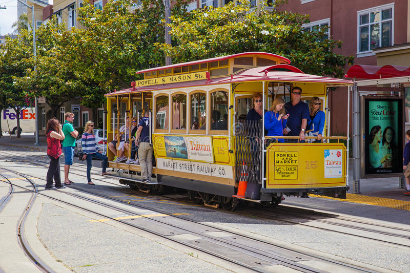 San Francisco Cable Car stock foto's