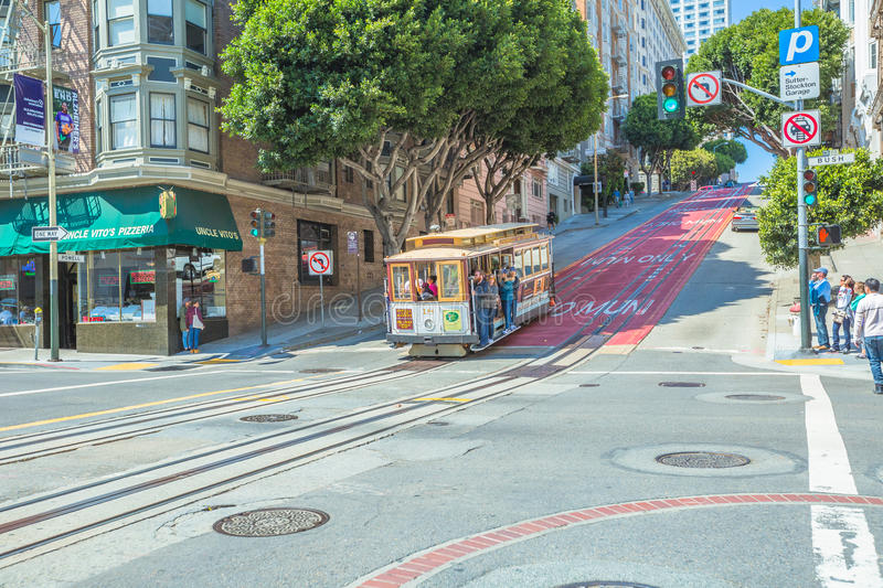 San Francisco Cable Car stock afbeelding