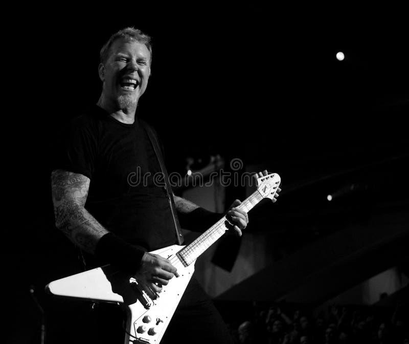 Metallica op Moscone Centrum 2011 stock fotografie