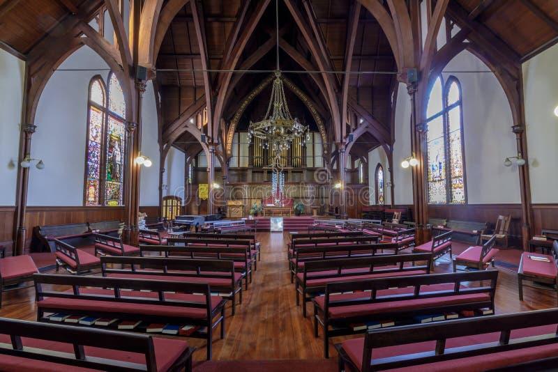 San Francisco, Californië - Februari 23, 2019: De Presbyteriaanse Kerk van Saint John stock foto's