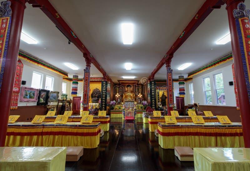 San Francisco, Californië - Juli 27 2018: De Zaal van Sakyamuni Boedha van Hua Zang Si Buddhist Temple stock afbeeldingen