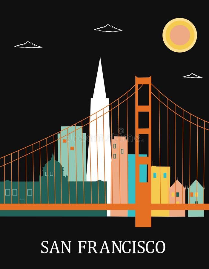San Francisco California. illustration stock