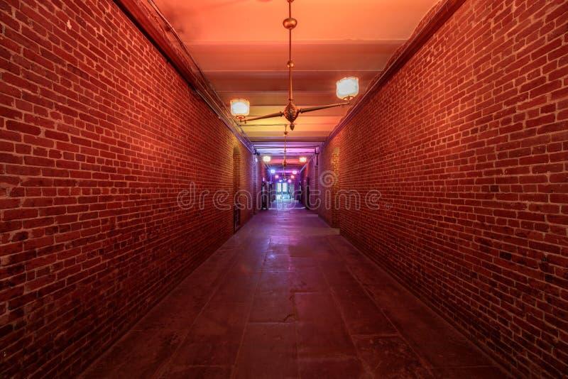San Francisco, California - 23 febbraio 2019: Seminterrato delle volte nel San anziano Francisco Mint fotografia stock libera da diritti