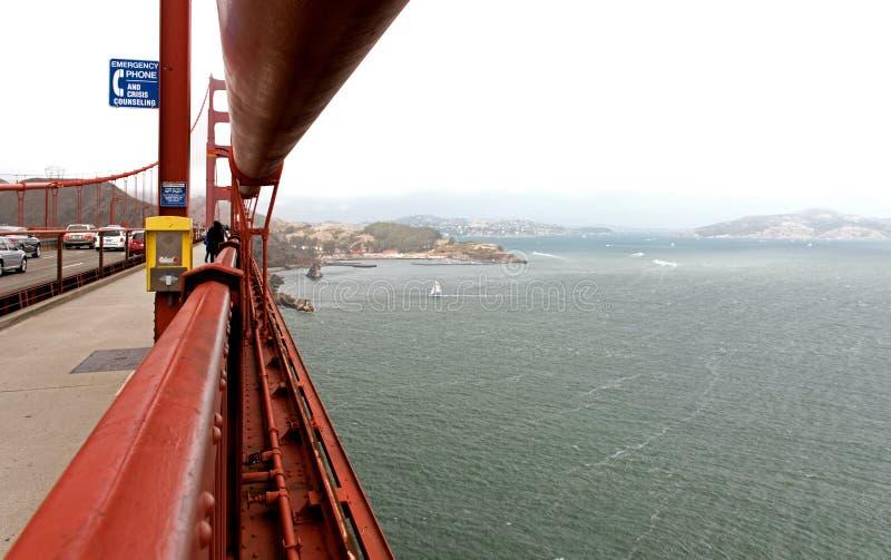 San Francisco, California - los E.E.U.U., agosto de 2016: En puente Golden Gate en San Francisco, agosto de 2016 fotografía de archivo