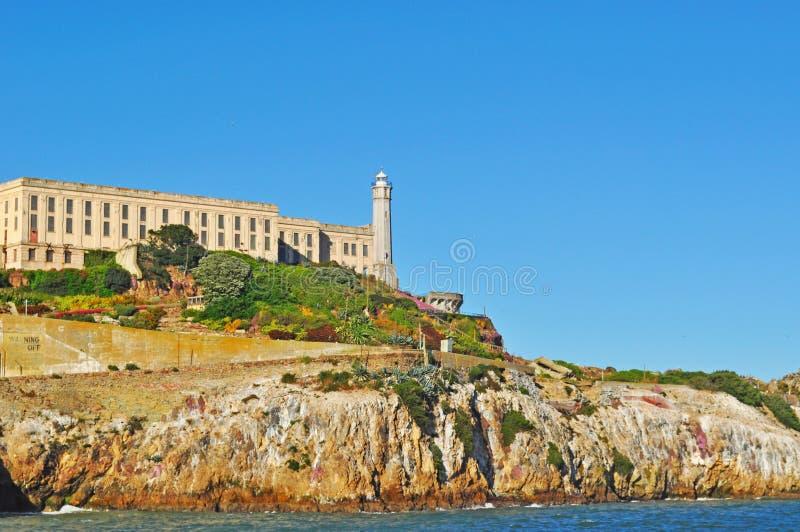 Alcatraz Island, lighthouse, prison, rock, San Francisco, California, United States of America, Usa, architecture, bay royalty free stock images