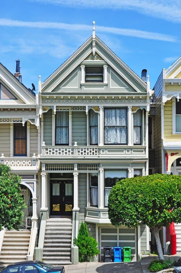 San Francisco, Painted Ladies, public monument, architecture, victorian, house, California, United States, Alamo Square stock photos