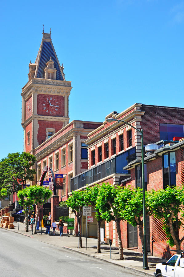 San Francisco, California, United States of America, Usa. Ghirardelli Shop on 9 June 2010. Ghirardelli Ice Cream and Chocolate Shop is the third-oldest chocolate stock photo