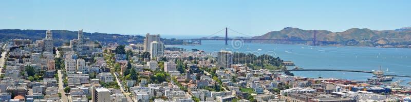 San Francisco, skyline, bay, Golden Gate, bridge, California, United States of America, Usa royalty free stock photography