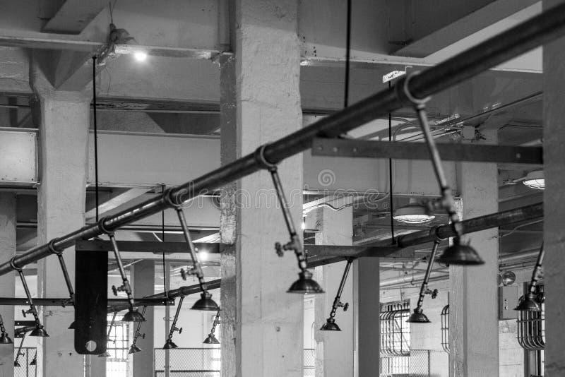 SAN FRANCISCO, CALIFORNIA/USA - 7 Augustus: Alcatrazgevangenis dichtbij stock afbeelding