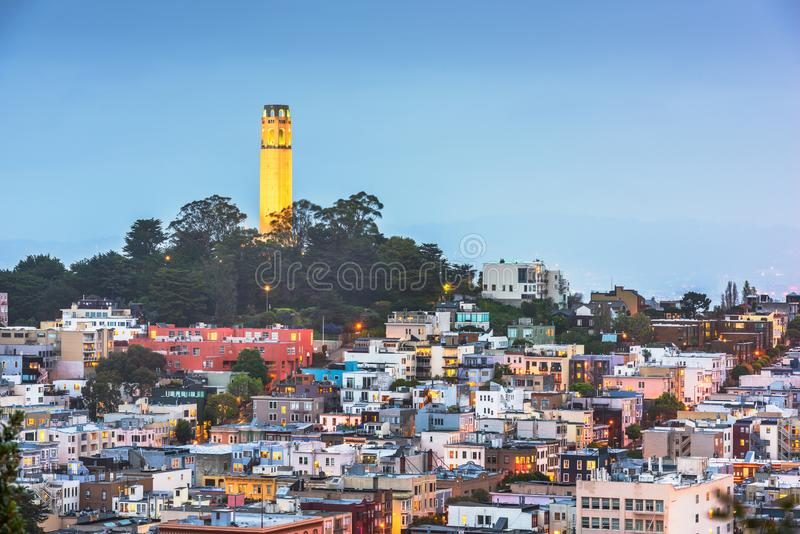 San Francisco, California, USA cityscape stock photography