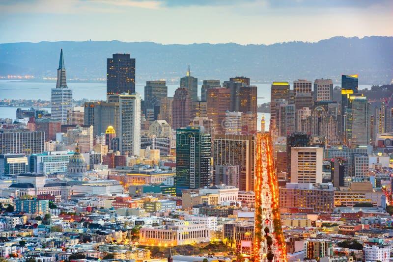 San Francisco, California, USA. Downtown skyline at dawn stock photos