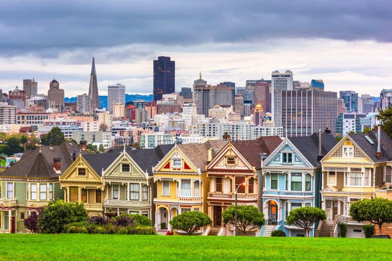 San Francisco, Californie, États-Unis, de la place Alamo images libres de droits