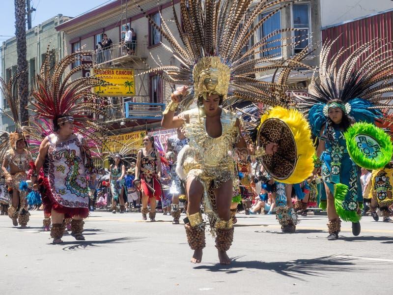 San 2014 Francisco Carnaval Grand Parade fotografía de archivo libre de regalías