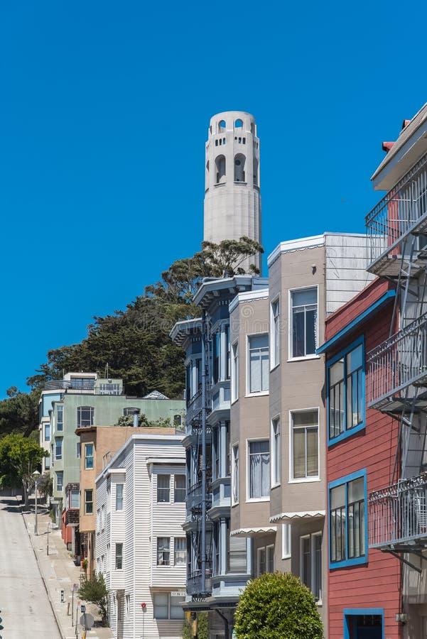 San Francisco, casas foto de archivo libre de regalías