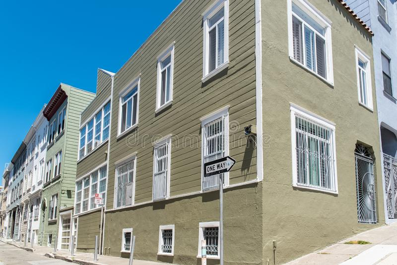 San Francisco, case tipiche immagini stock