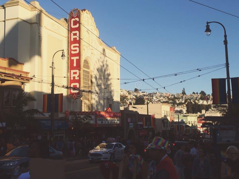 Castro during pride. San Francisco Castro royalty free stock photography