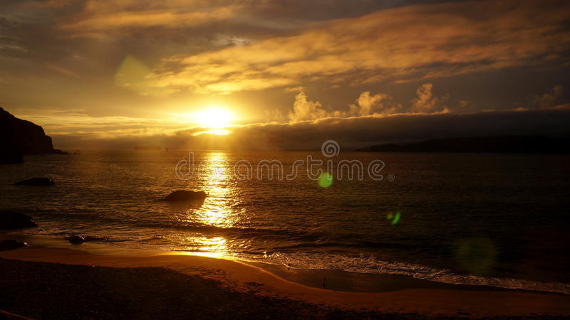 San Francisco China Beach Sunset royalty free stock photography