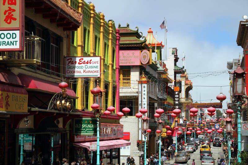 San Francisco Chinatown, California, S.U.A. fotografia stock libera da diritti