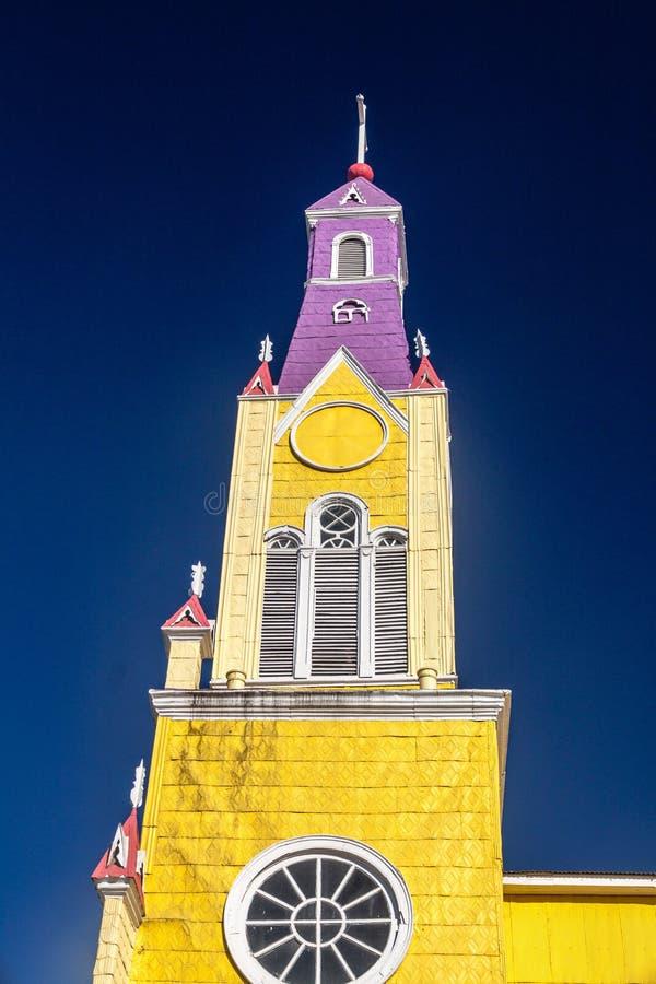 San Francisco church in Castro, Chile. San Francisco church in Castro, Chiloe island, Chile royalty free stock image