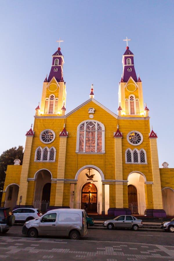 San Francisco church in Castro, Chile. San Francisco church in Castro, Chiloe island, Chile stock image