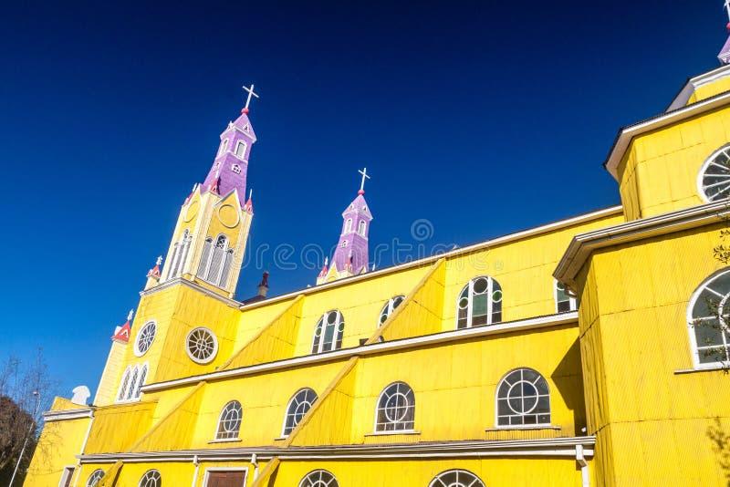 San Francisco church in Castro, Chile. San Francisco church in Castro, Chiloe island, Chile stock photo