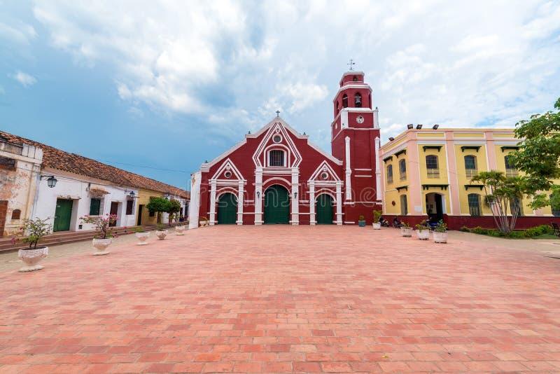 San Francisco Church em Mompox, Colômbia fotos de stock