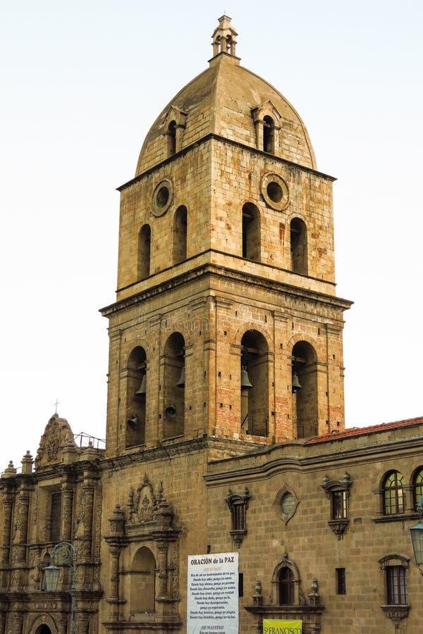 San Francisco Church, La Paz, Bolivië royalty-vrije stock fotografie