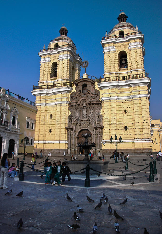 San Francisco Church, Lima royalty free stock photo