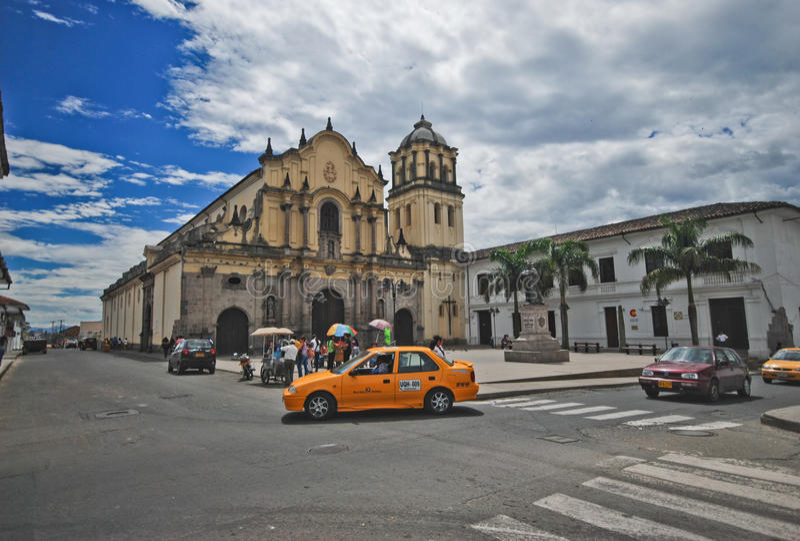 San Francisco Church, Popayán, Colombia immagini stock libere da diritti