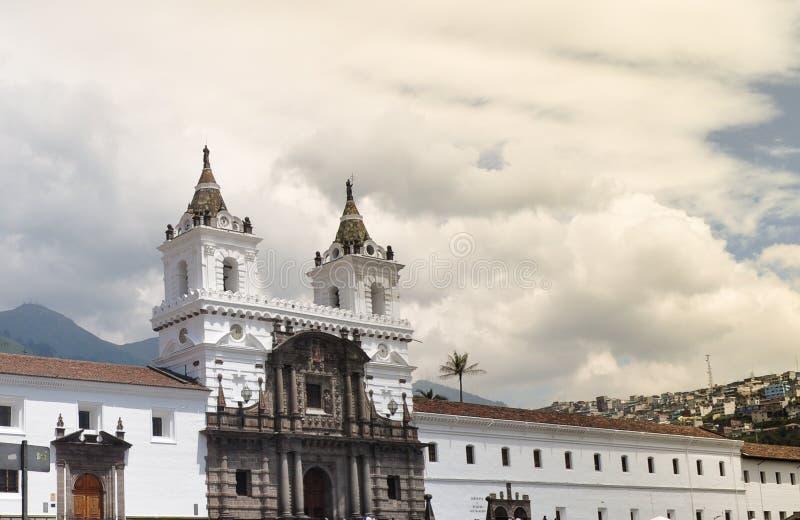 San Francisco Church In Quito fotografía de archivo