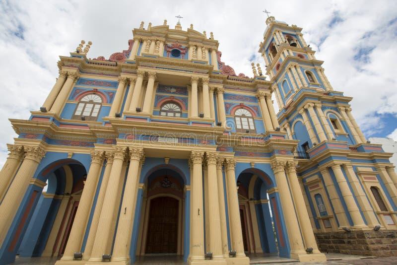 San Francisco Church in Salta-provincie, Argentinië stock foto