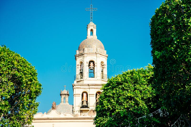 San Francisco Church, Templo de San Francisco - Queretaro, Mexico - sep, 2019. San Francisco Church, Templo de San Francisco - Queretaro, Mexico royalty free stock photo