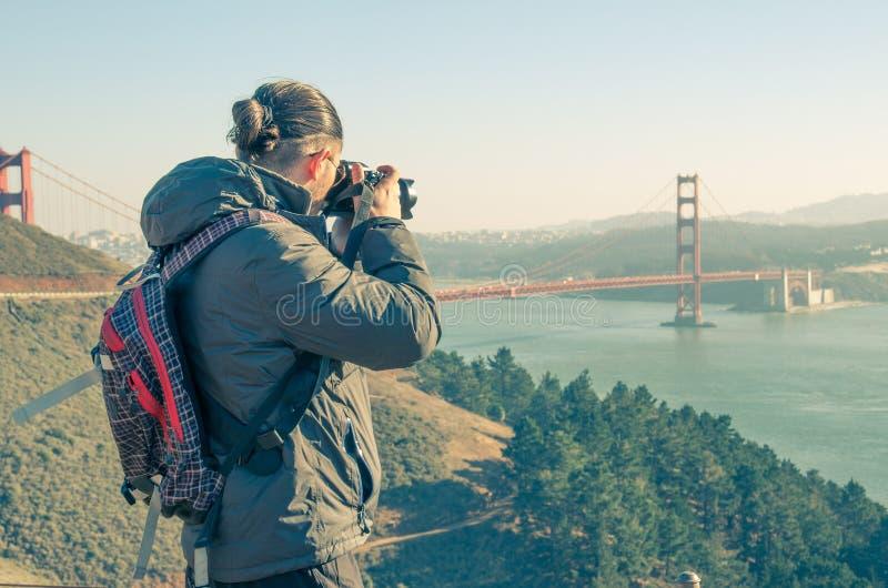 San Francisco-citscape von den Doppelspitzen lizenzfreies stockbild