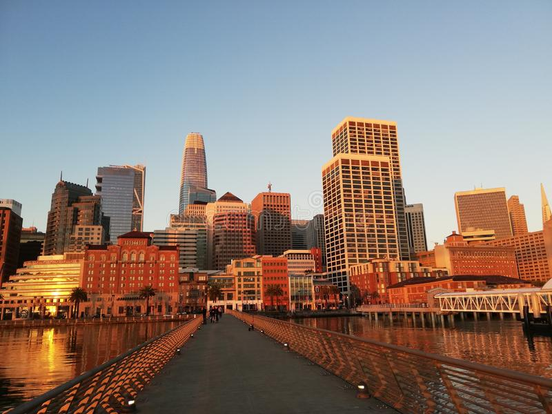 San Francisco, città, costruzioni, grattacielo fotografie stock libere da diritti