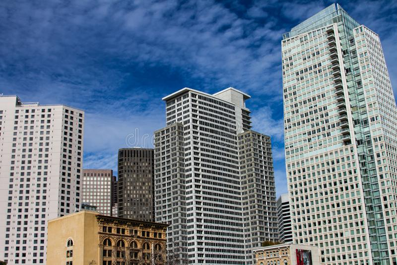 San Francisco the city apartment living. One of the most expense city San Francisco  real estate tower apartment living stock images