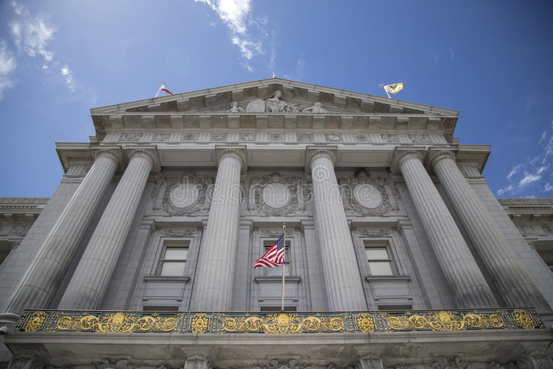 San Francisco City Hall top royalty free stock photo