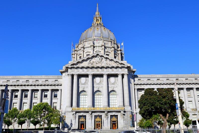 San Francisco City Hall, una delle attrazioni di viaggio a San Francisco, fotografie stock