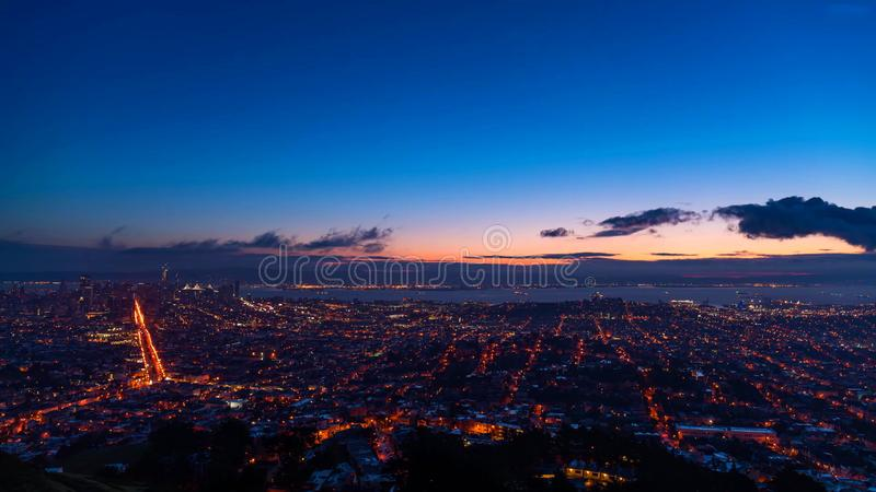 San Francisco City - horizon de la ville de San Francisco photographie stock